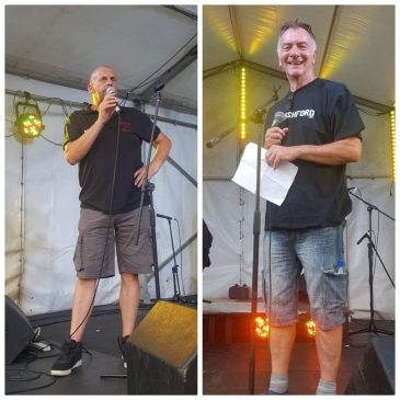 You are in safe hands on Friday night..Presenters Steve and Steve back to host the evening..with a little help from Neil Tegg..